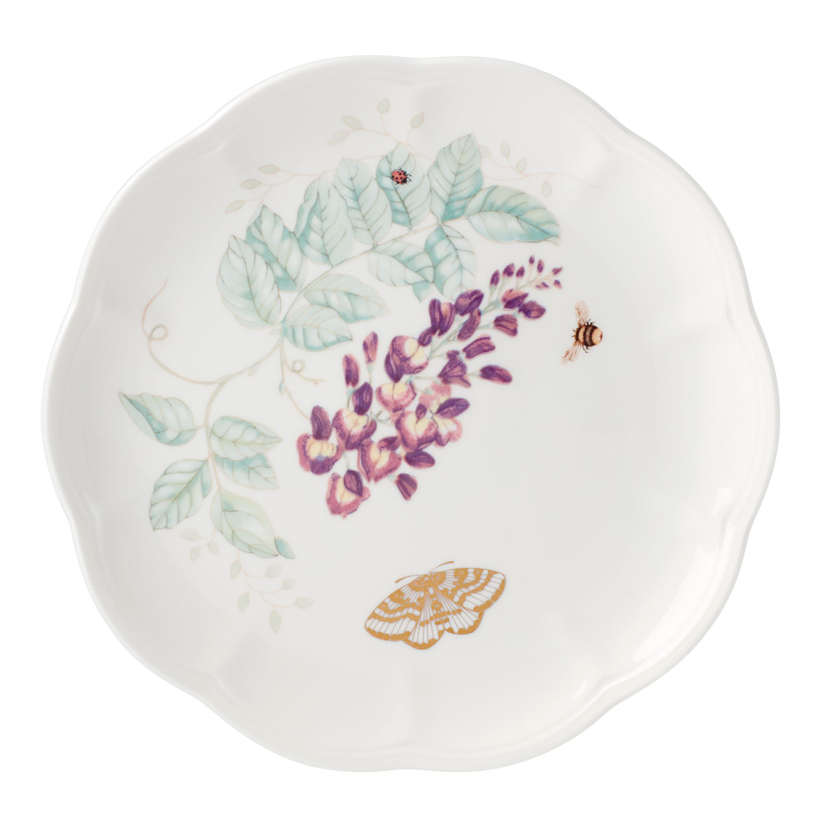 Lenox Butterly Meadow Gold Dinnerware Blue Butterlfy Accent Plate Gold