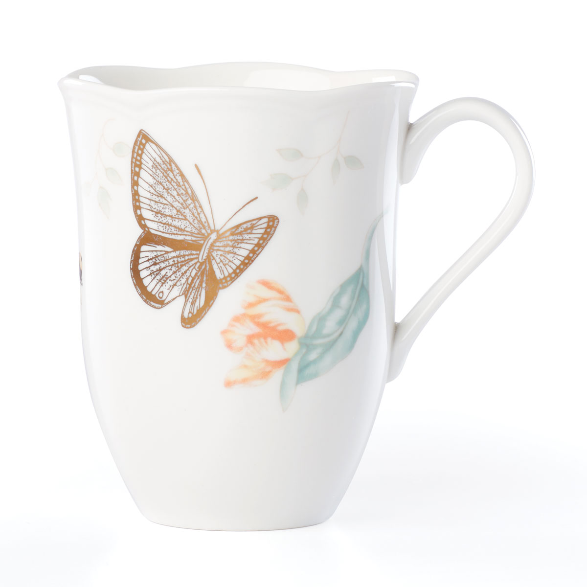 Lenox Butterly Meadow Gold Dinnerware Blue Butterlfy Mug Gold