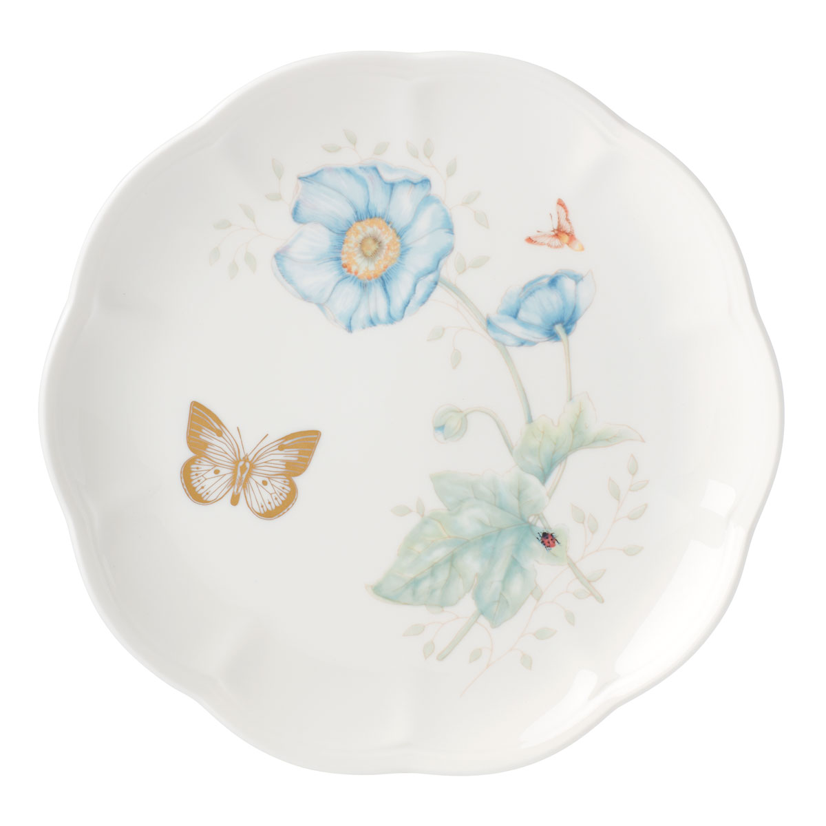 Lenox Butterly Meadow Gold Dinnerware Monarch Accent Plate Gold