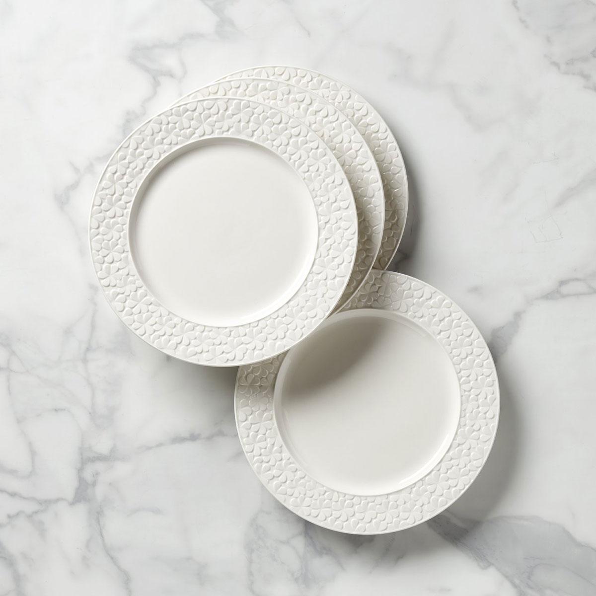 Kate Spade New York, Lenox Blossom Lane 4-Piece Dinner Plate Set