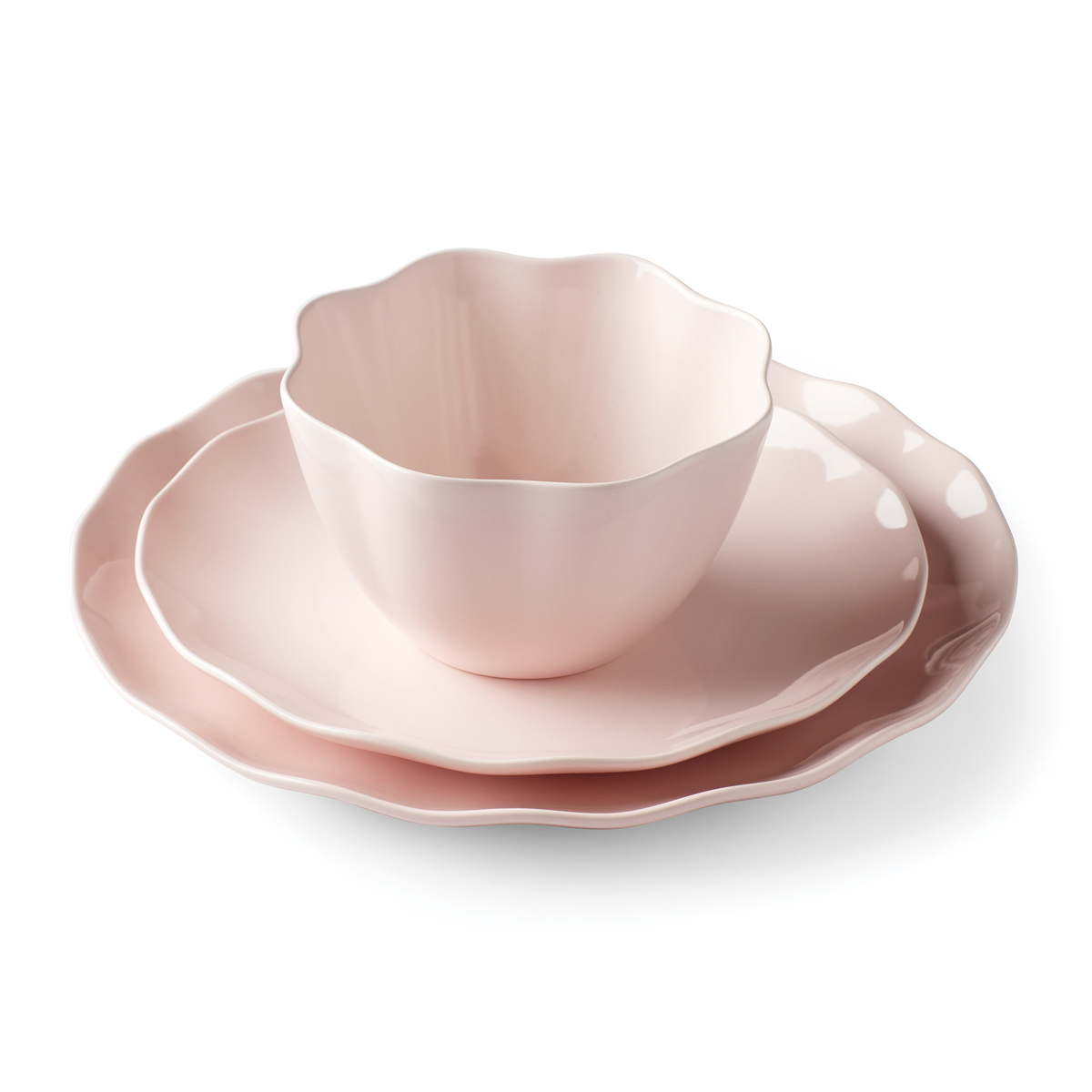 Kate Spade China by Lenox, Petal Ln Blush 3 Piece Plate Setting