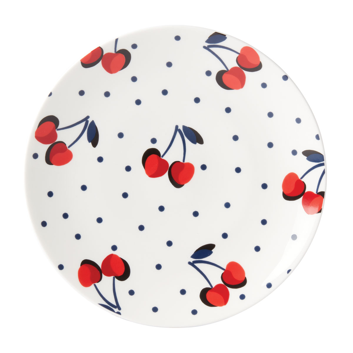Kate Spade China by Lenox, Vintage Cherry Dot Accent Plate