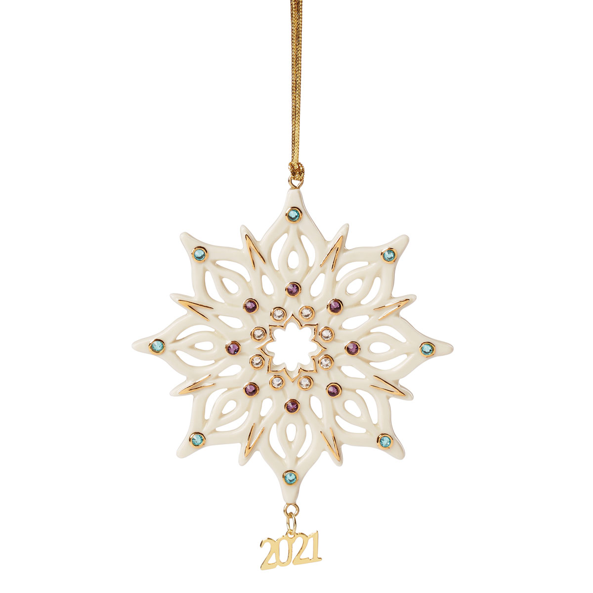 Lenox 2021 Annual Gemmed Snowflake Ornament