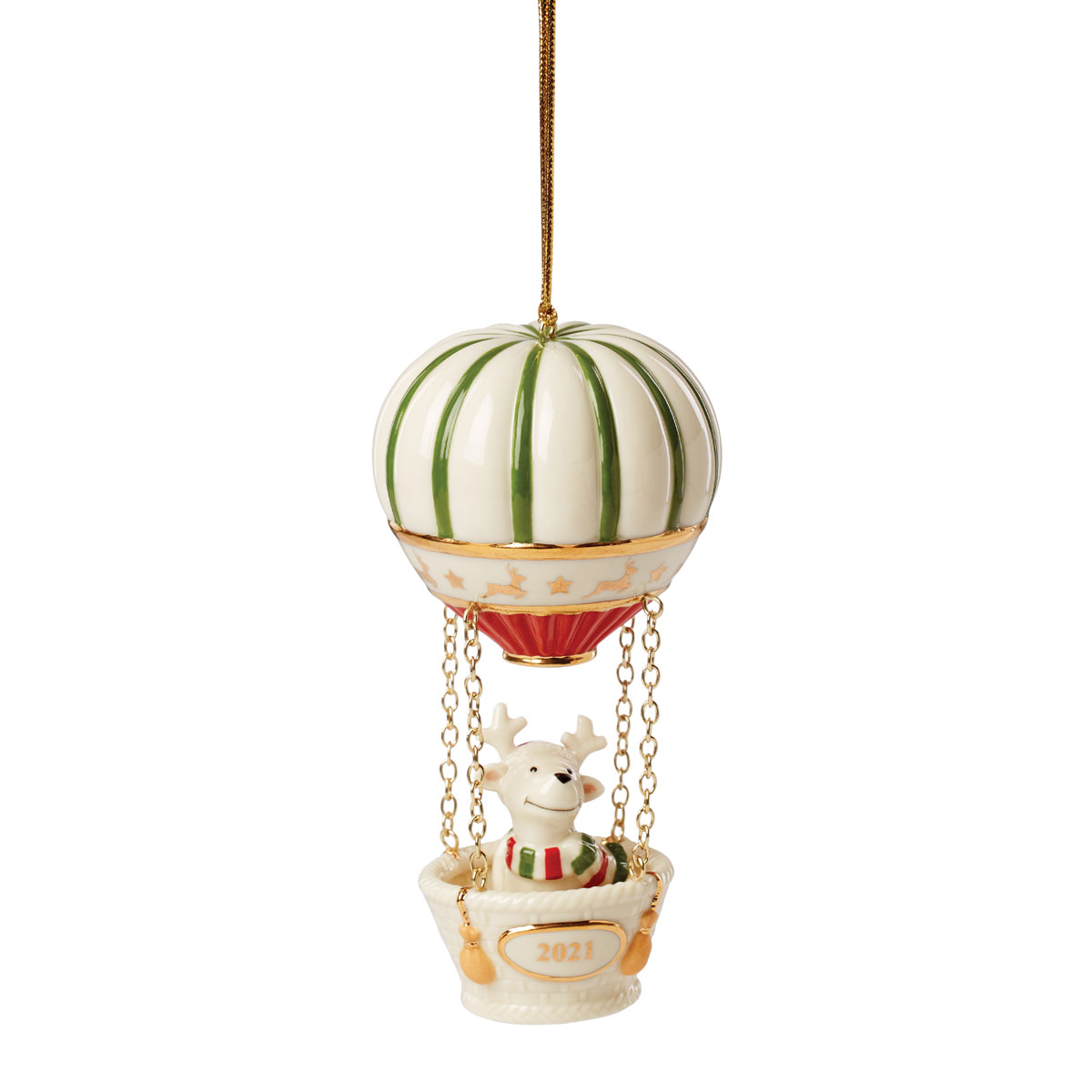 Lenox 2021 Ralph the Reindeer Hot Air Balloon Dated Ornament
