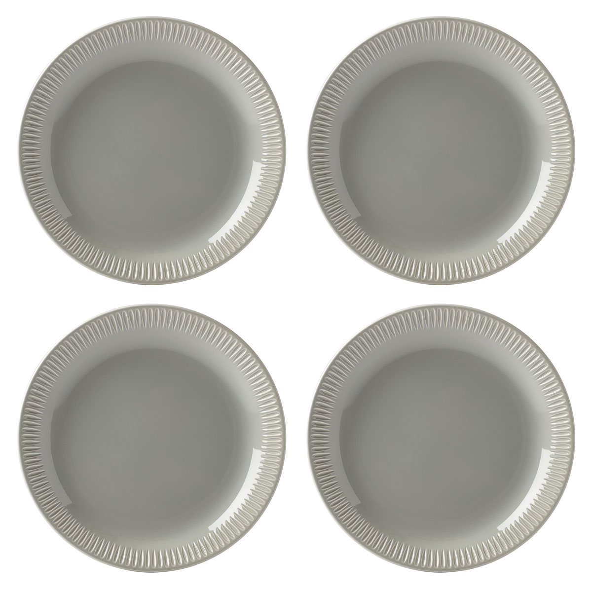 Lenox Profile Dinnerware Accent Plate Grey Set Of Four