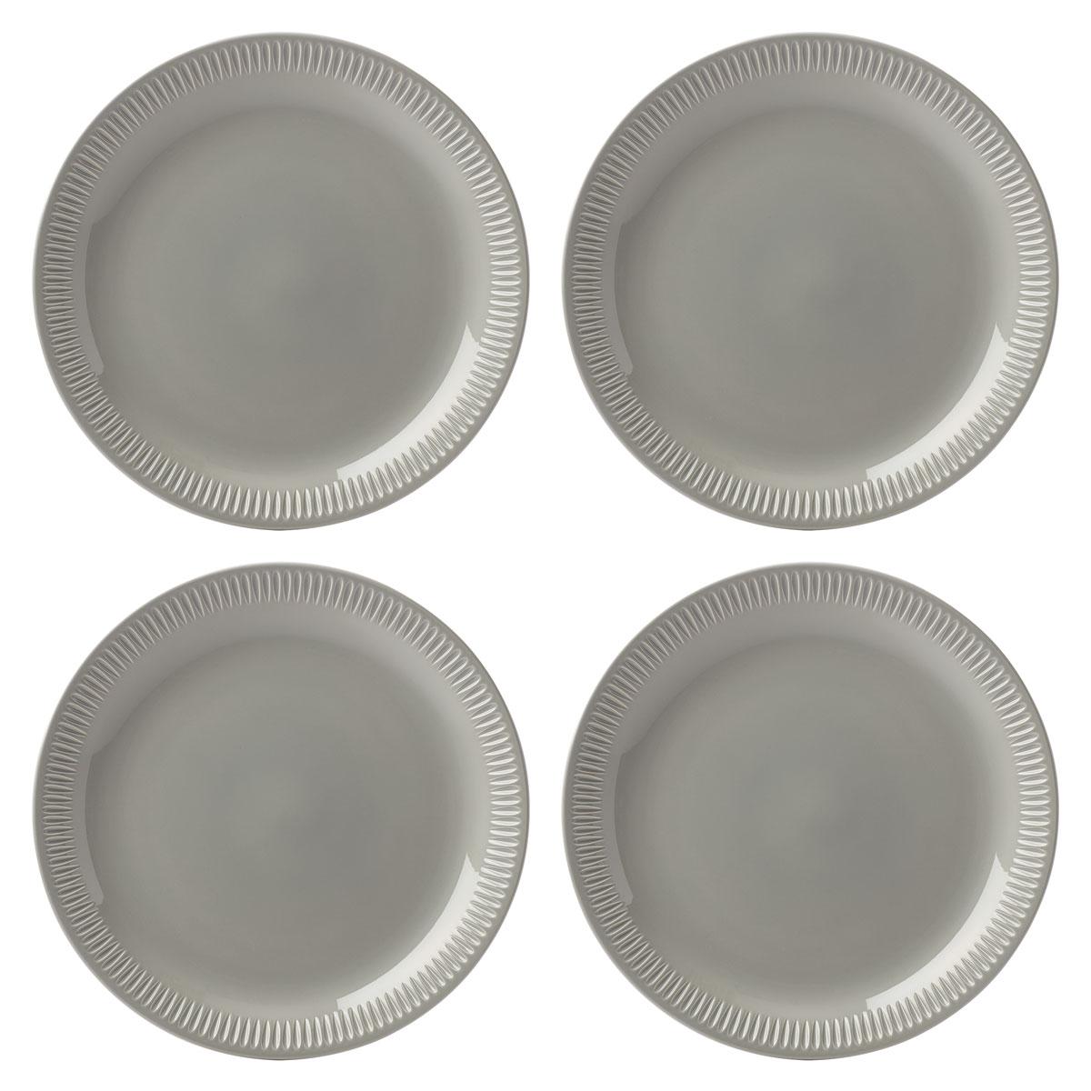 Lenox Profile Dinnerware Dinner Plate Grey Set Of Four
