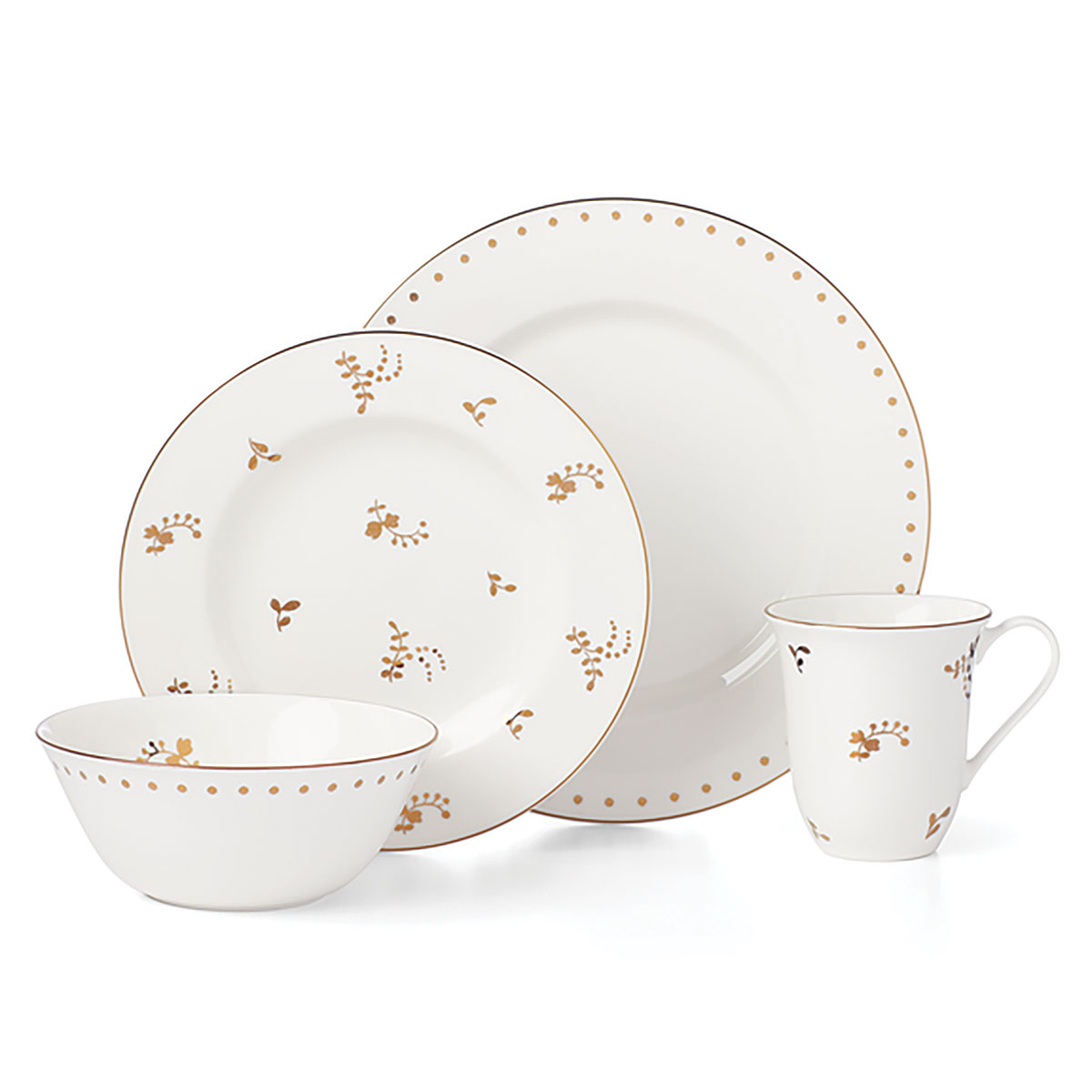 Lenox Opal Innocence Flourish Dinnerware 4 Piece Place Setting