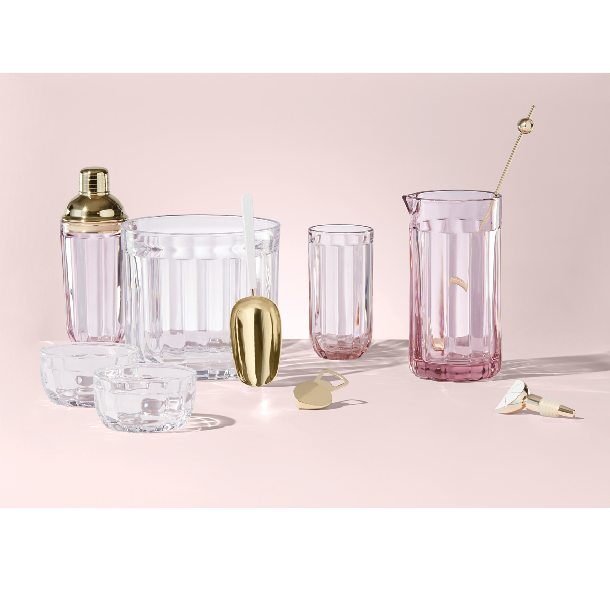 Kate Spade New York, Lenox Park Circle Clear Ice Bucket With Scoop