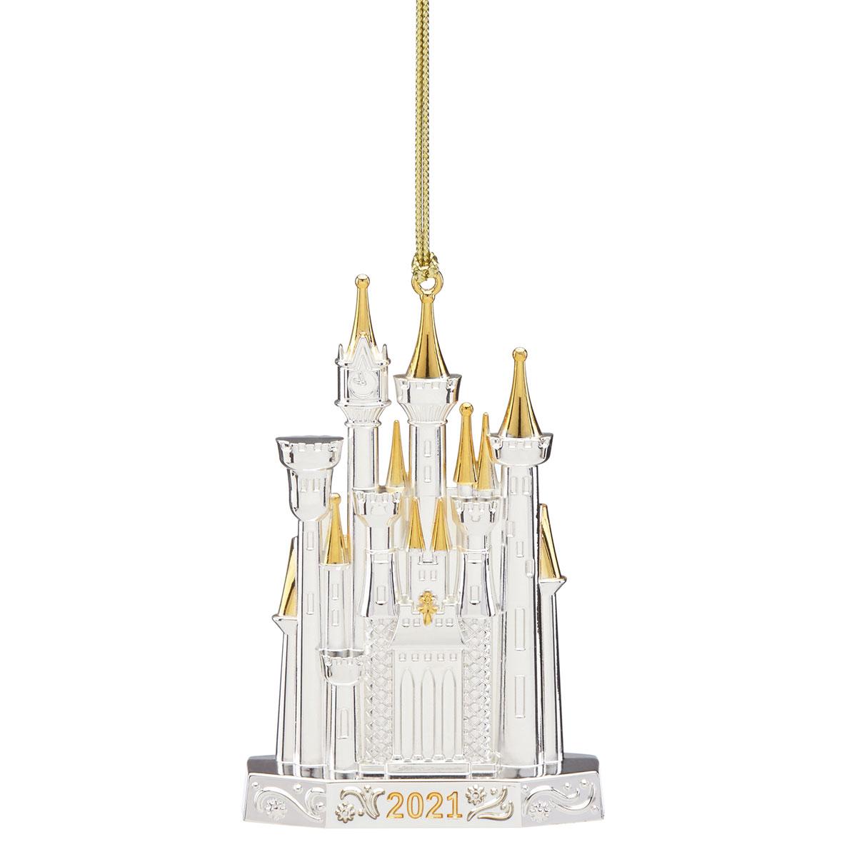 Lenox 2021 Disney Castle Metal Ornament
