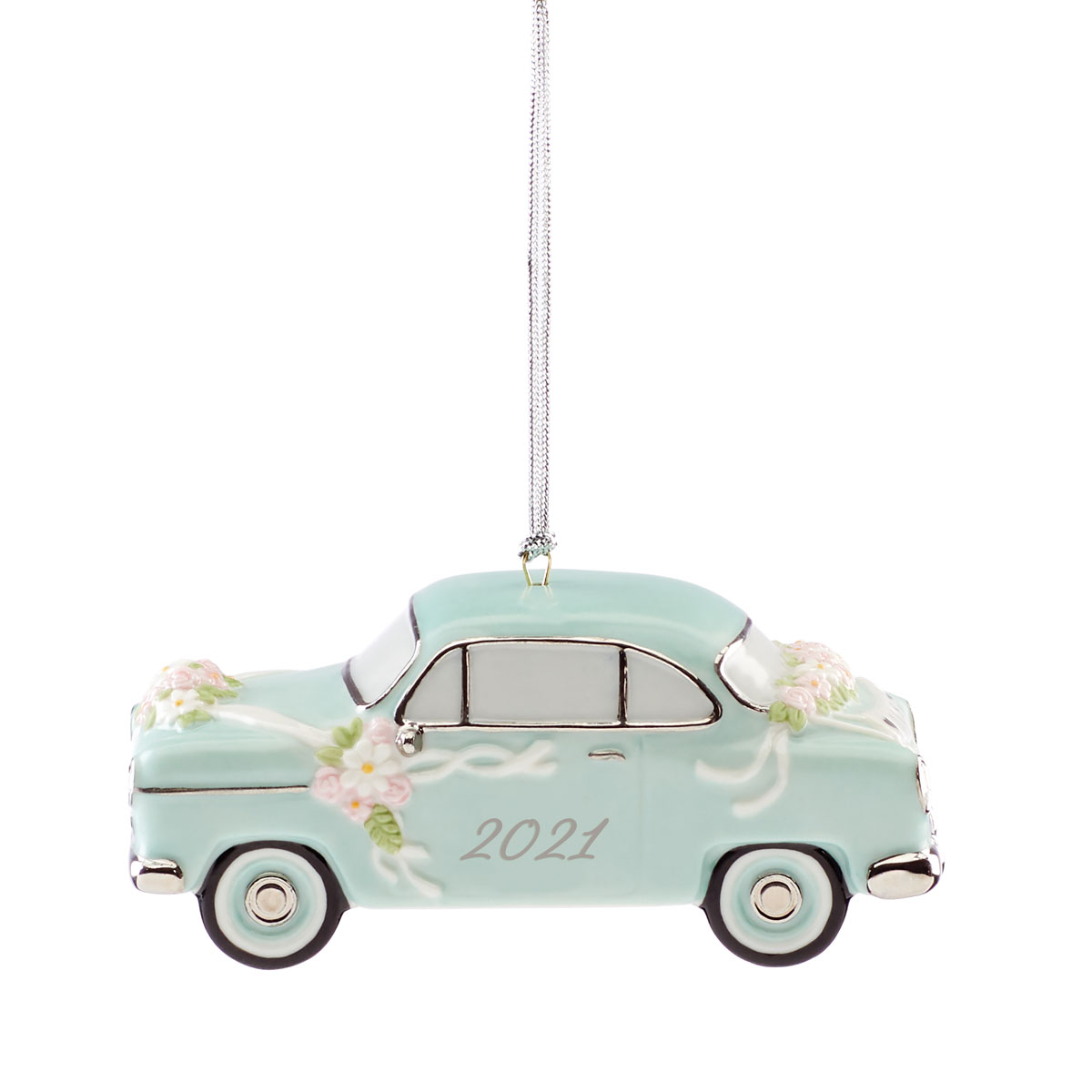 Lenox 2021 Just Married Vintage Car Dated Ornament