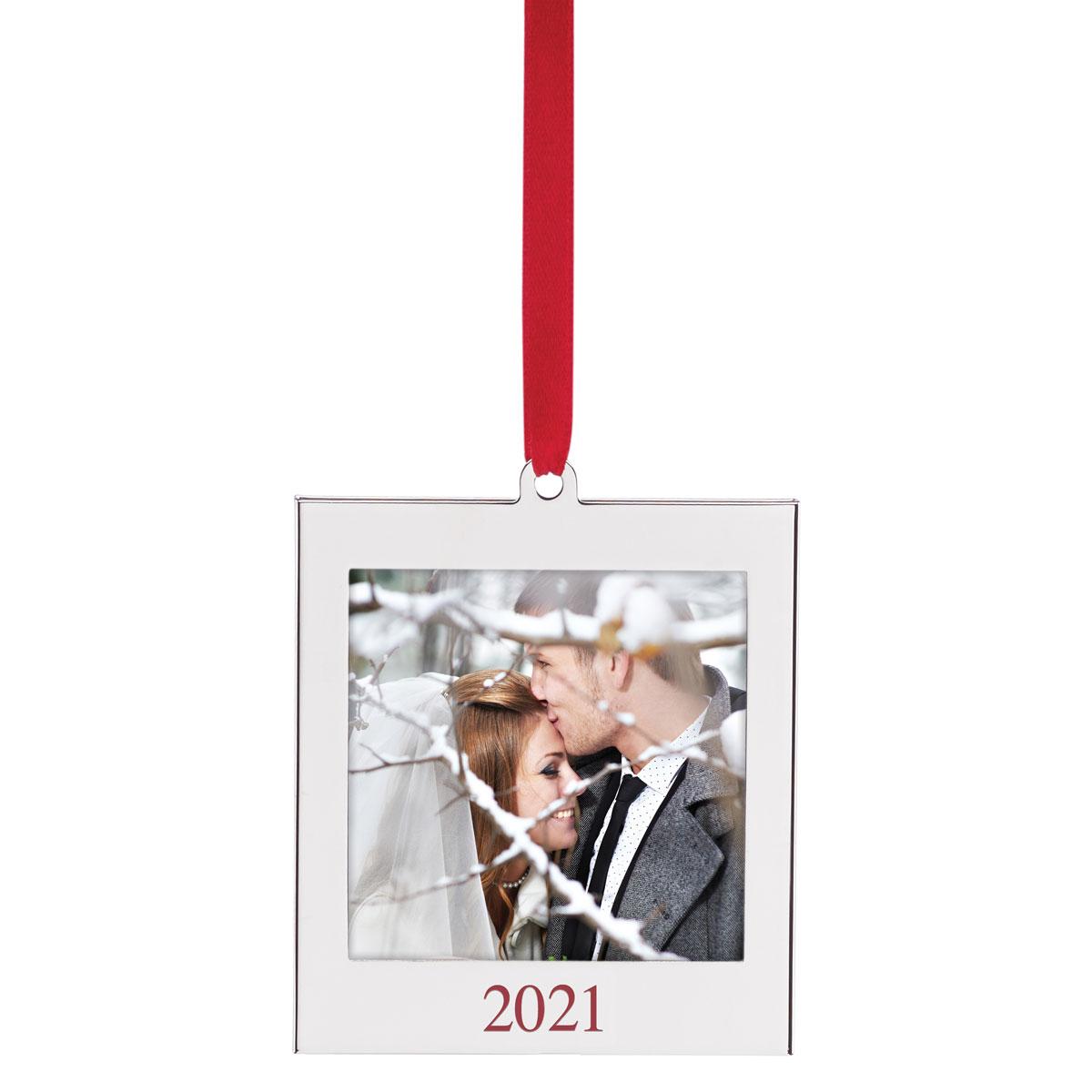 Lenox 2021 Frame Charm Metal Dated Ornament