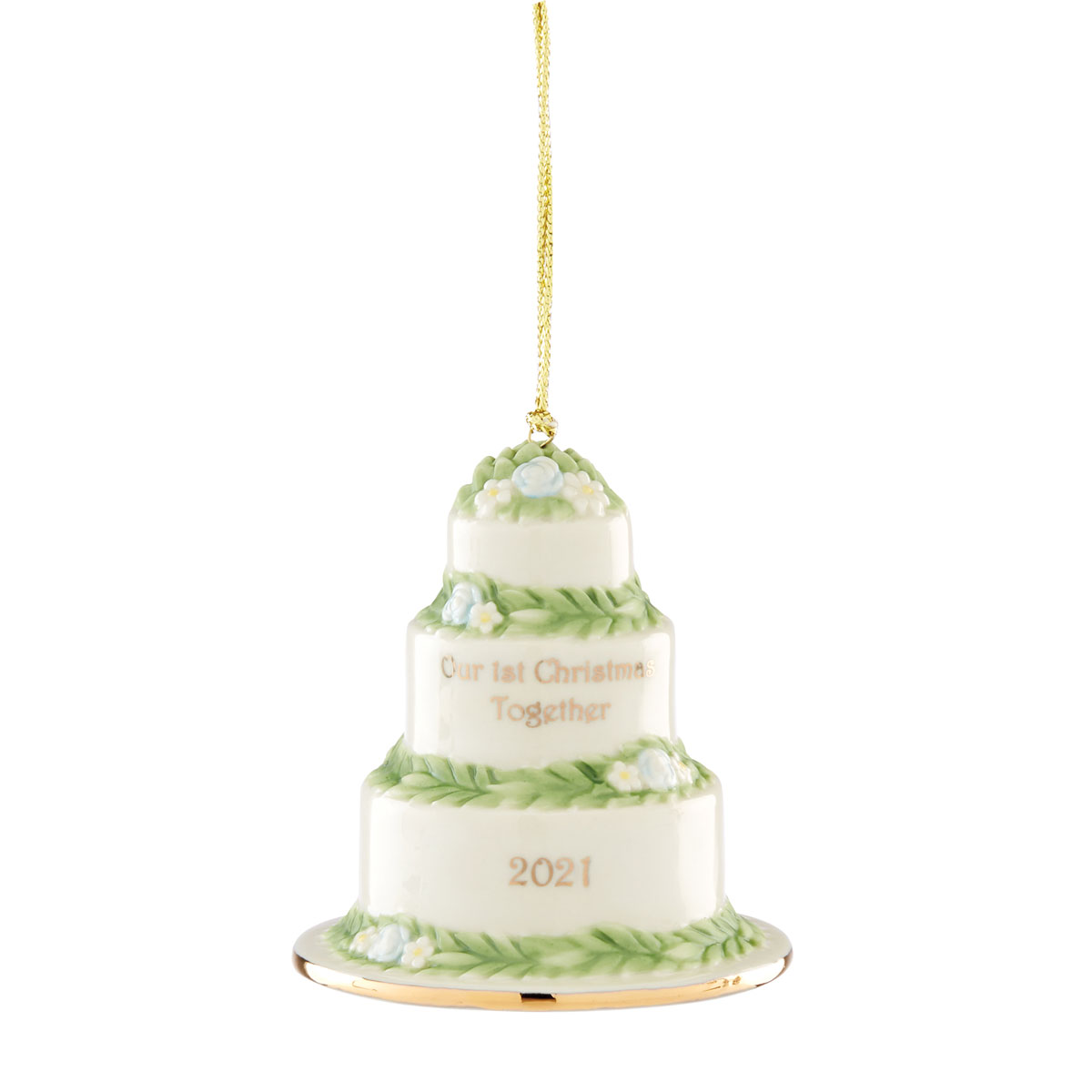 Lenox 2021 Our 1st Christmas Together Cake Ornament