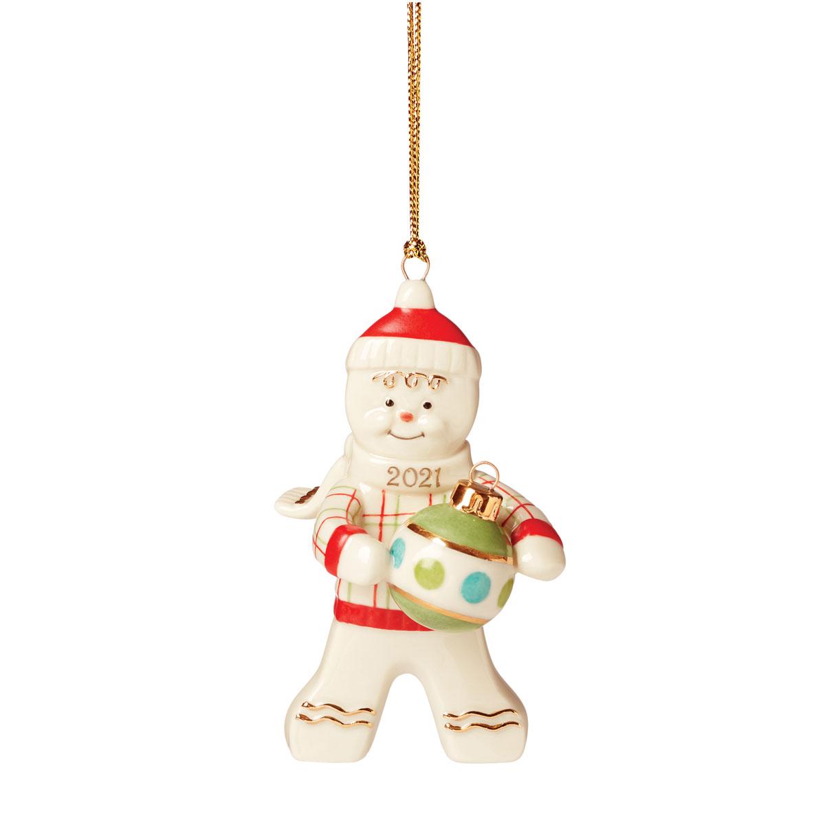 Lenox 2021 Trimming the Tree Gingerbread Ornament