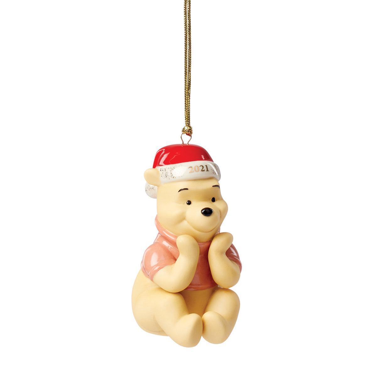 Lenox 2021 Disney 2021 Winnie the Pooh Christmas Wish Dated Ornament