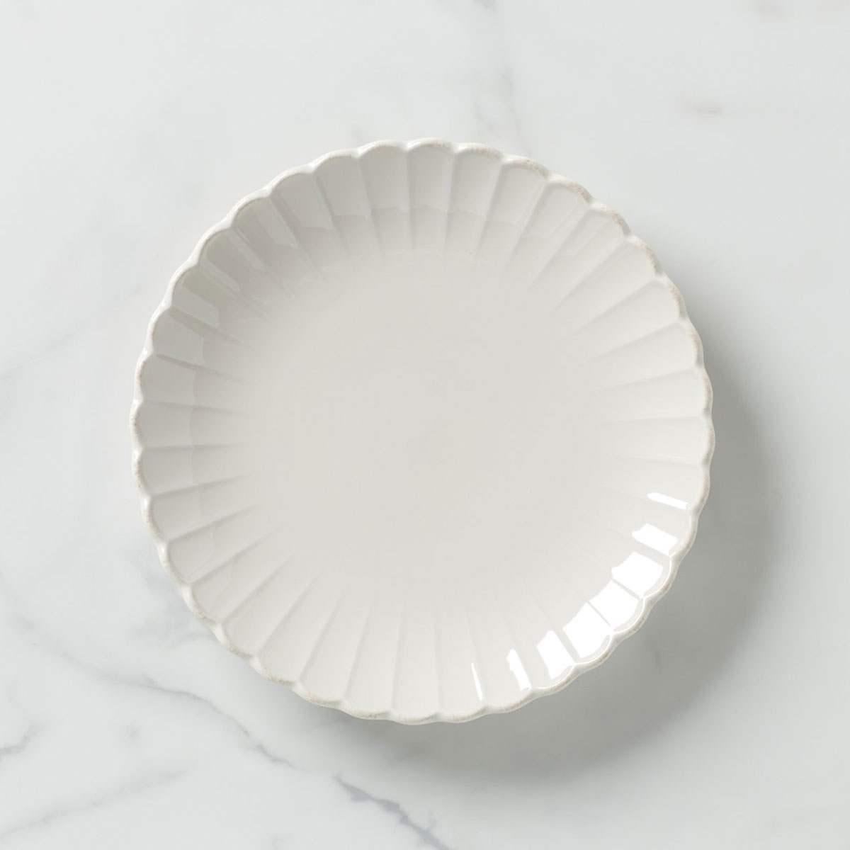 Lenox French Perle Scallop Dinner Plate, Single