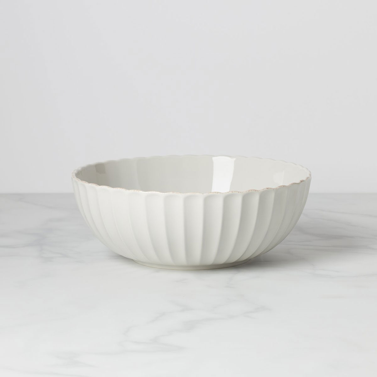 """Lenox French Perle Scallop Serving 11"""" Bowl"""
