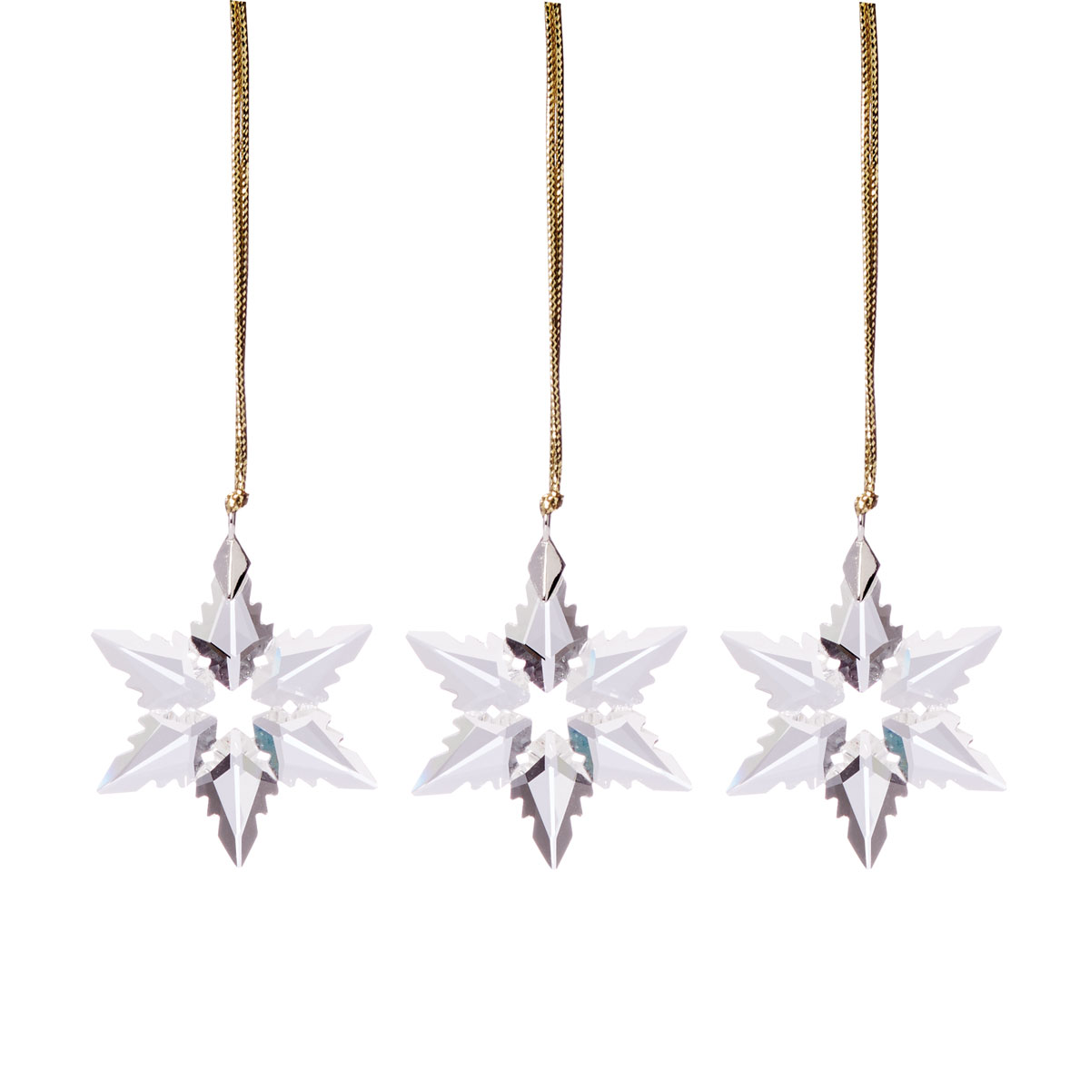 Lenox 2021 Mini Optic Snowflake Crystal Ornament Set of 3