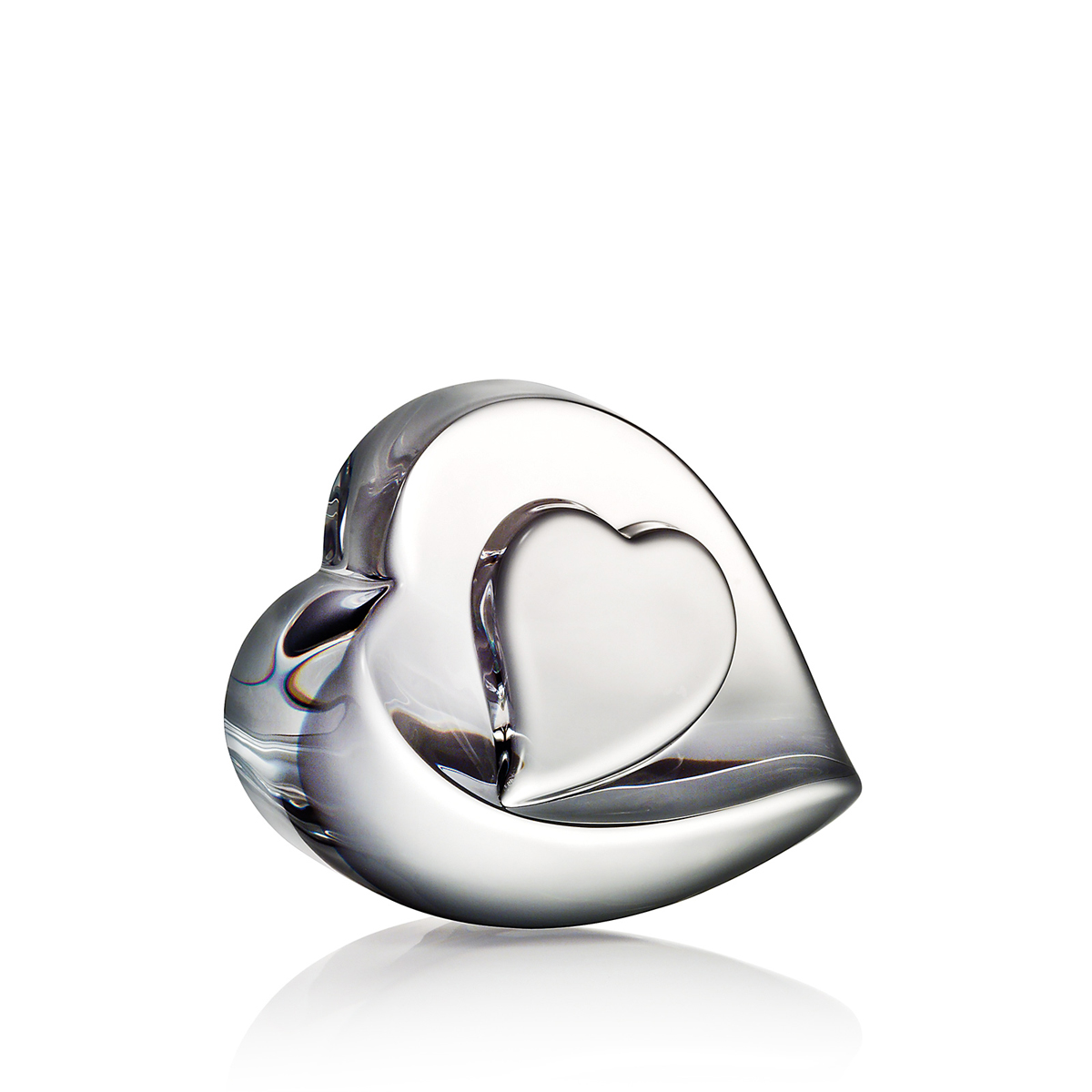Steuben Heart of My Heart Paperweight
