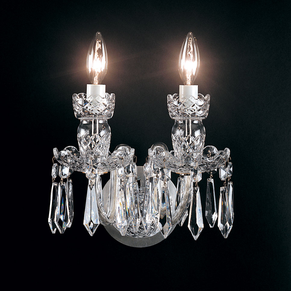 Waterford Crystal, Avoca Double Arm Wall Sconce