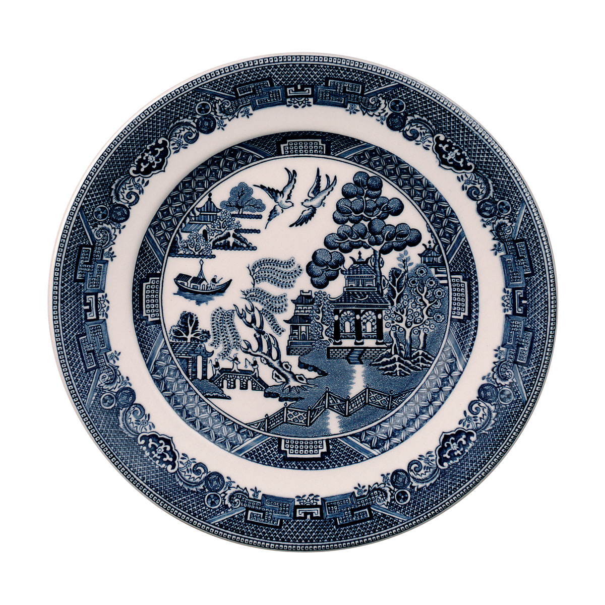 Johnson Brothers Willow Blue Bread and Butter Plate, Single
