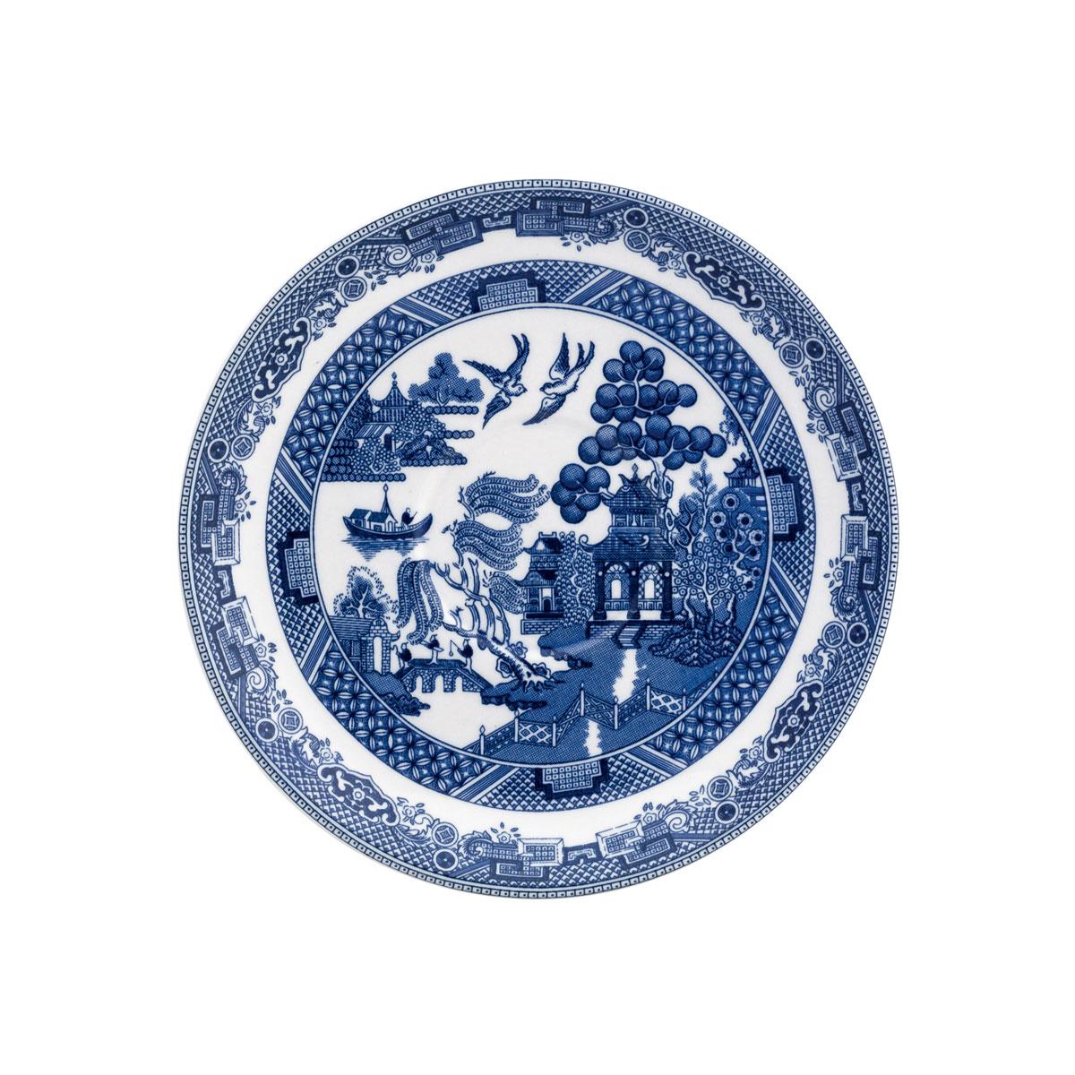 "Johnson Brothers Willow Blue Tea Saucer 5.75"", Single"