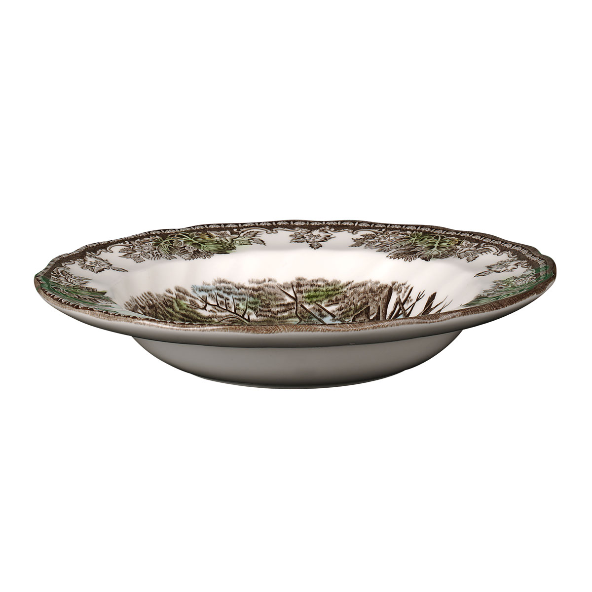 "Johnson Brothers Friendly Village Rim Soup, Pasta Bowl 8.5"", Single"