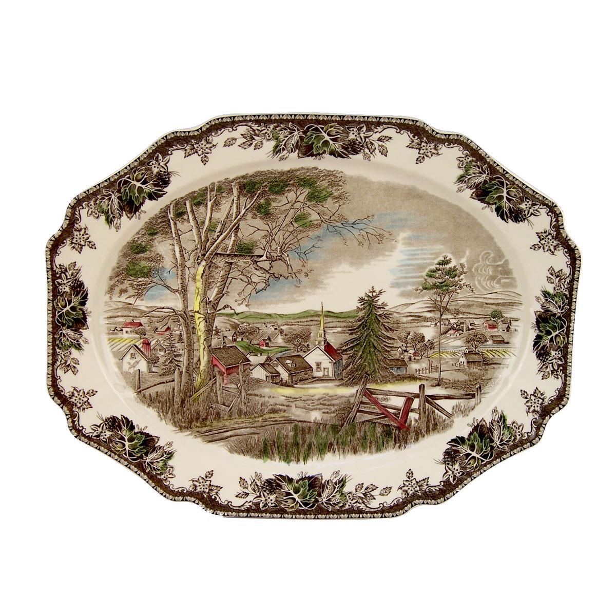 "Johnson Brothers Friendly Village Turkey Platter 20"""