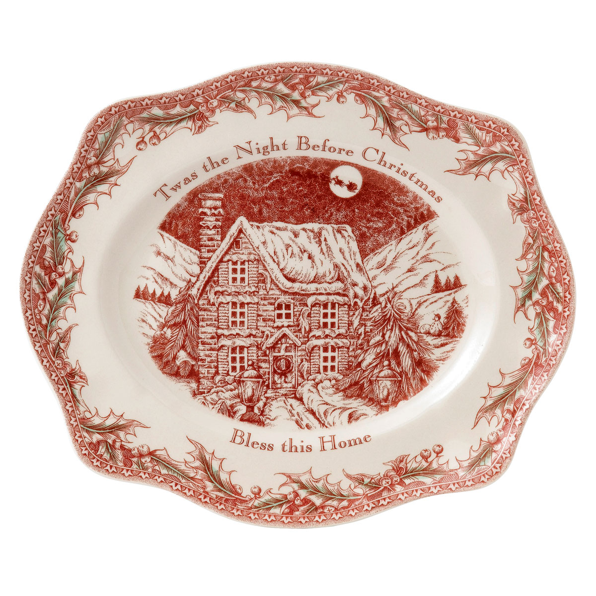 Johnson Brothers Twas The Night Bless This Home Tray