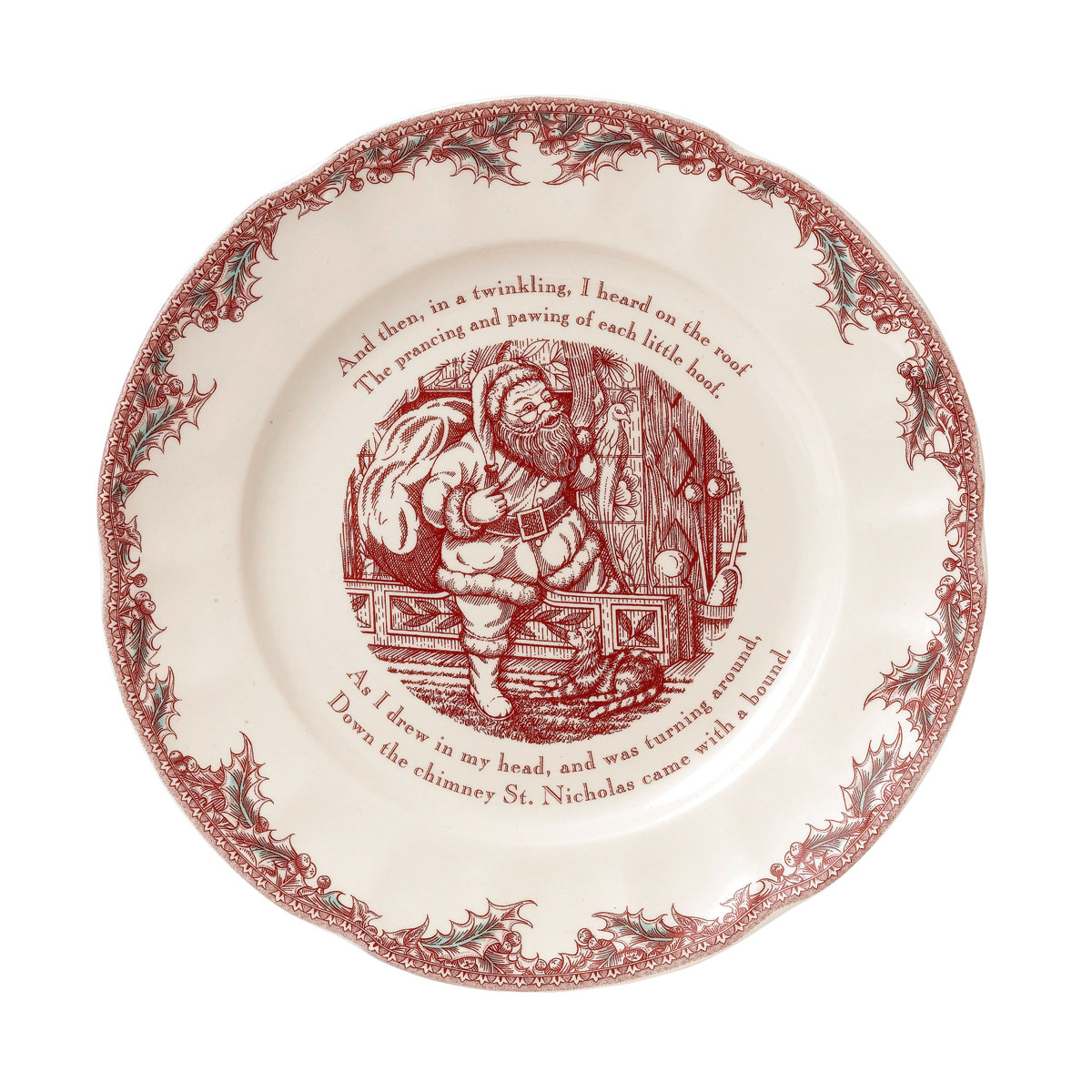 Johnson Brothers Twas The Night Serving Plate Round