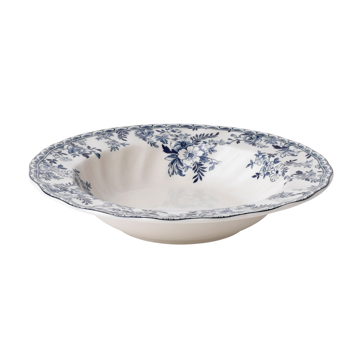 "Johnson Brothers Devon Cottage Rim Soup, Pasta Bowl 8.25"", Single"