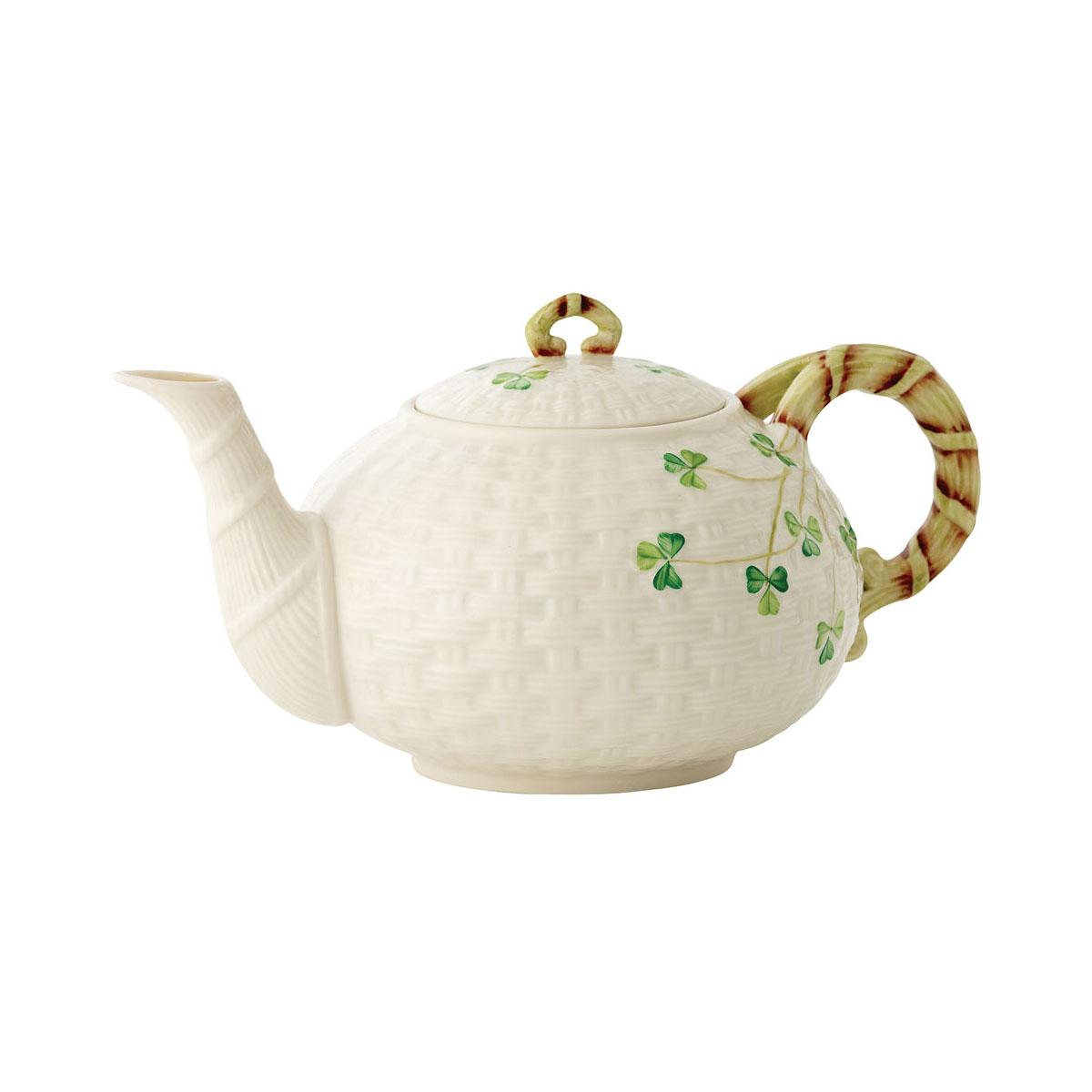 Belleek China Shamrock Teapot