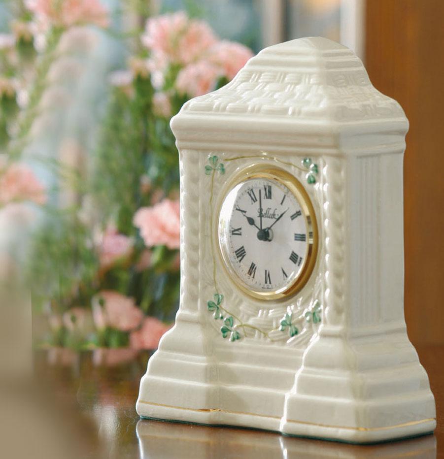 Belleek China Cashel Clock