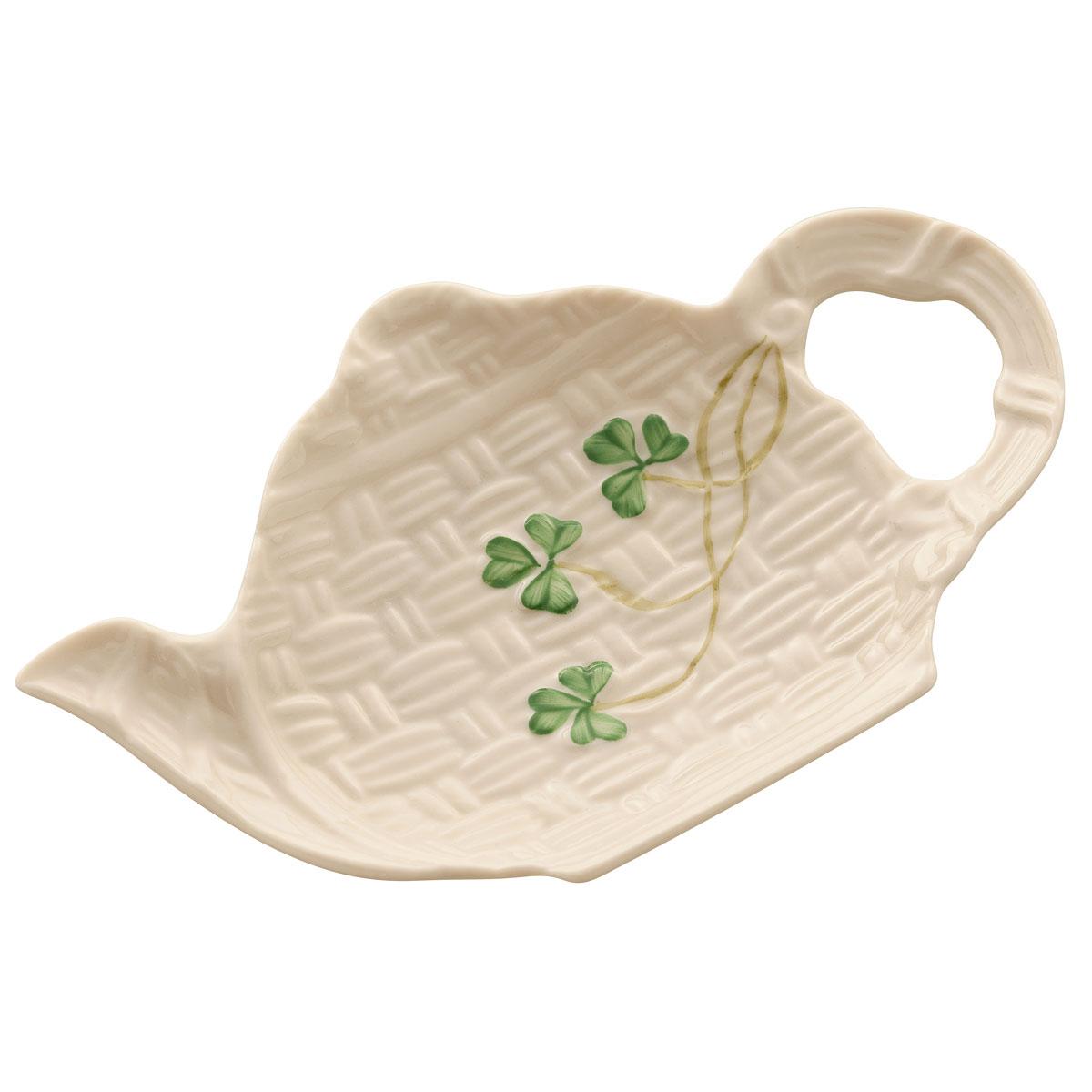 Belleek China Shamrock Teapot Spoon Rest Holder