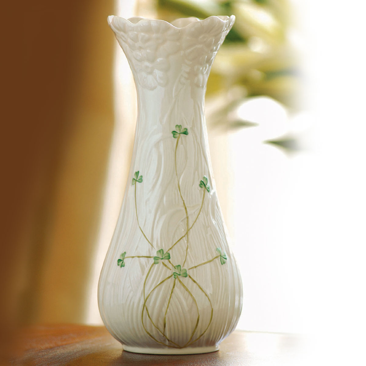 "Belleek China Daisy 10 1/2"" Vase"