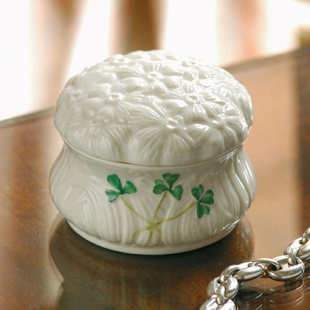Belleek China Daisy Trinket Gift Box