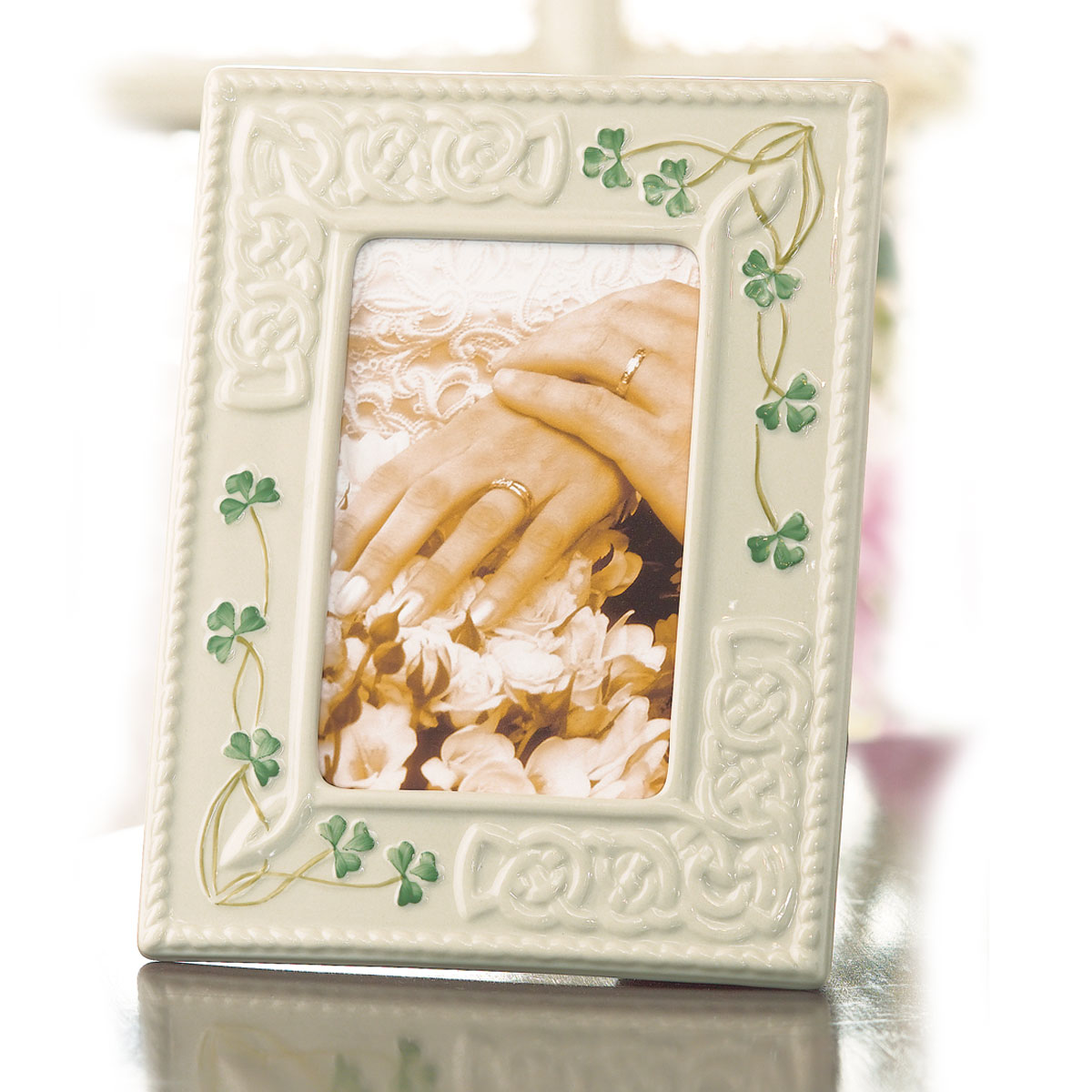 "Belleek China Tara 4x6"" Picture Frame"