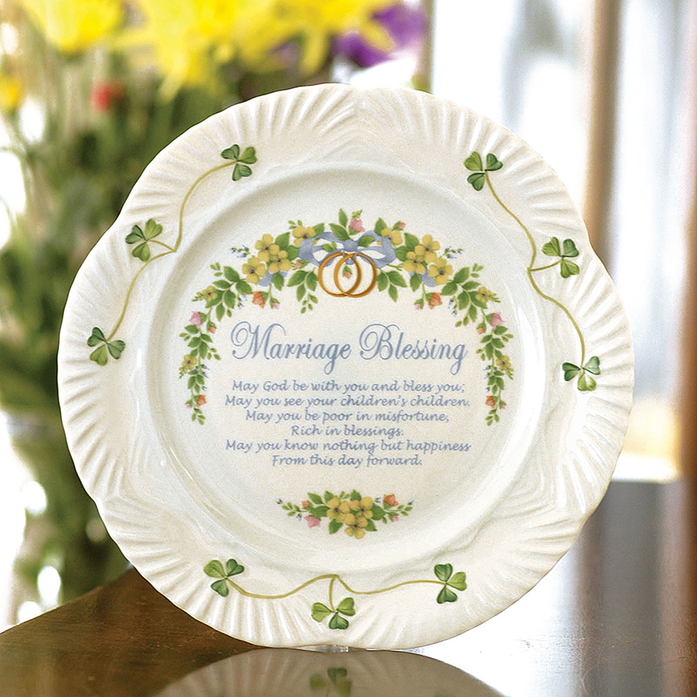 Belleek China Celebration Marriage Blessing Plate