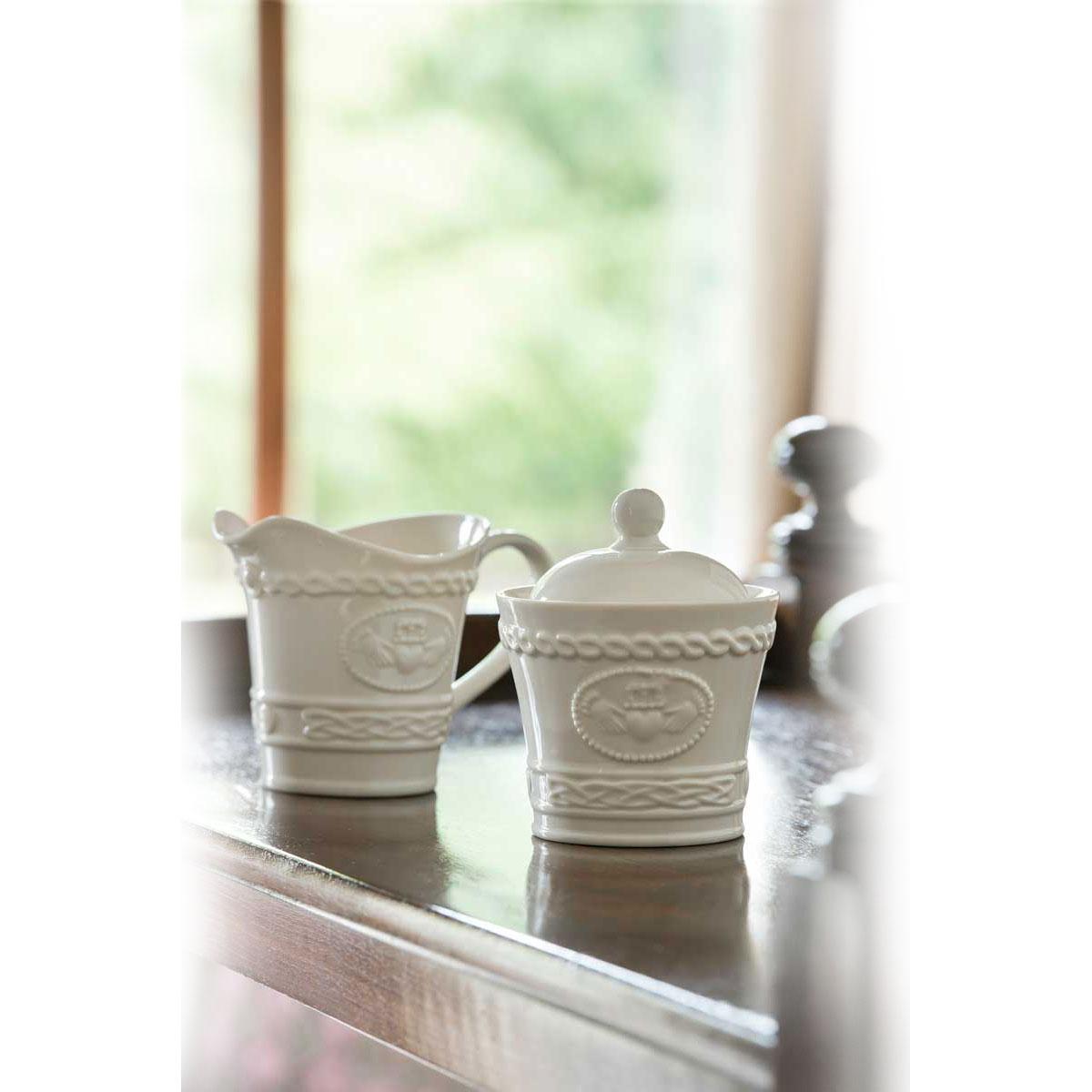 Belleek China Claddagh Sugar Bowl