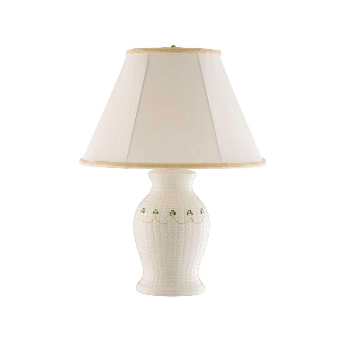 Belleek China Braid Lamp and Shade