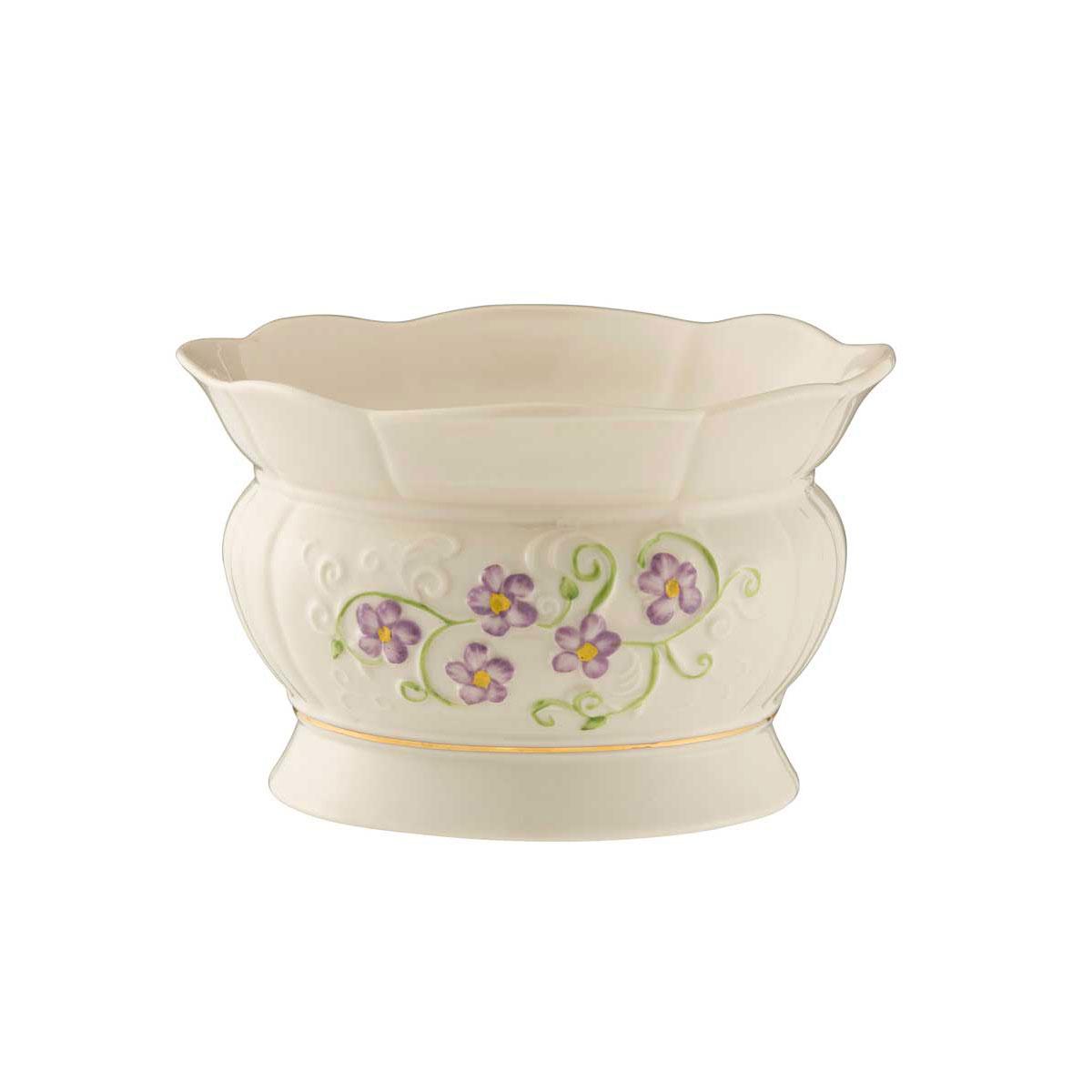 Belleek China Irish Flax Bowl
