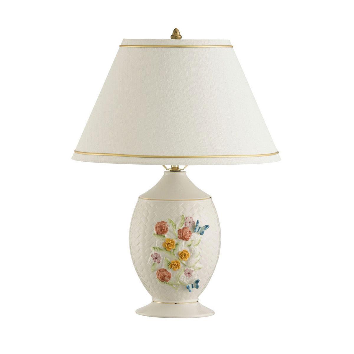 Belleek China Wickerweave Lamp and Shade