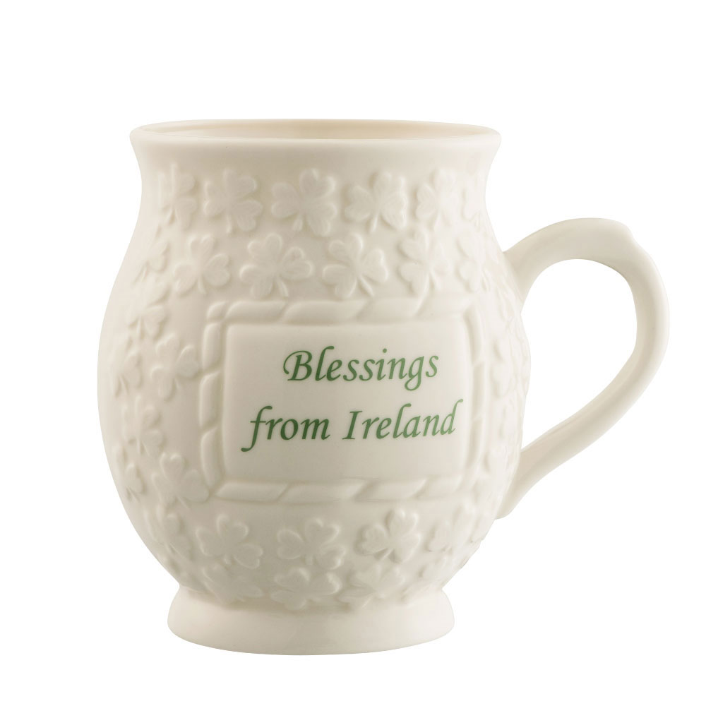 Belleek Blessings from Ireland Shamrock Mug