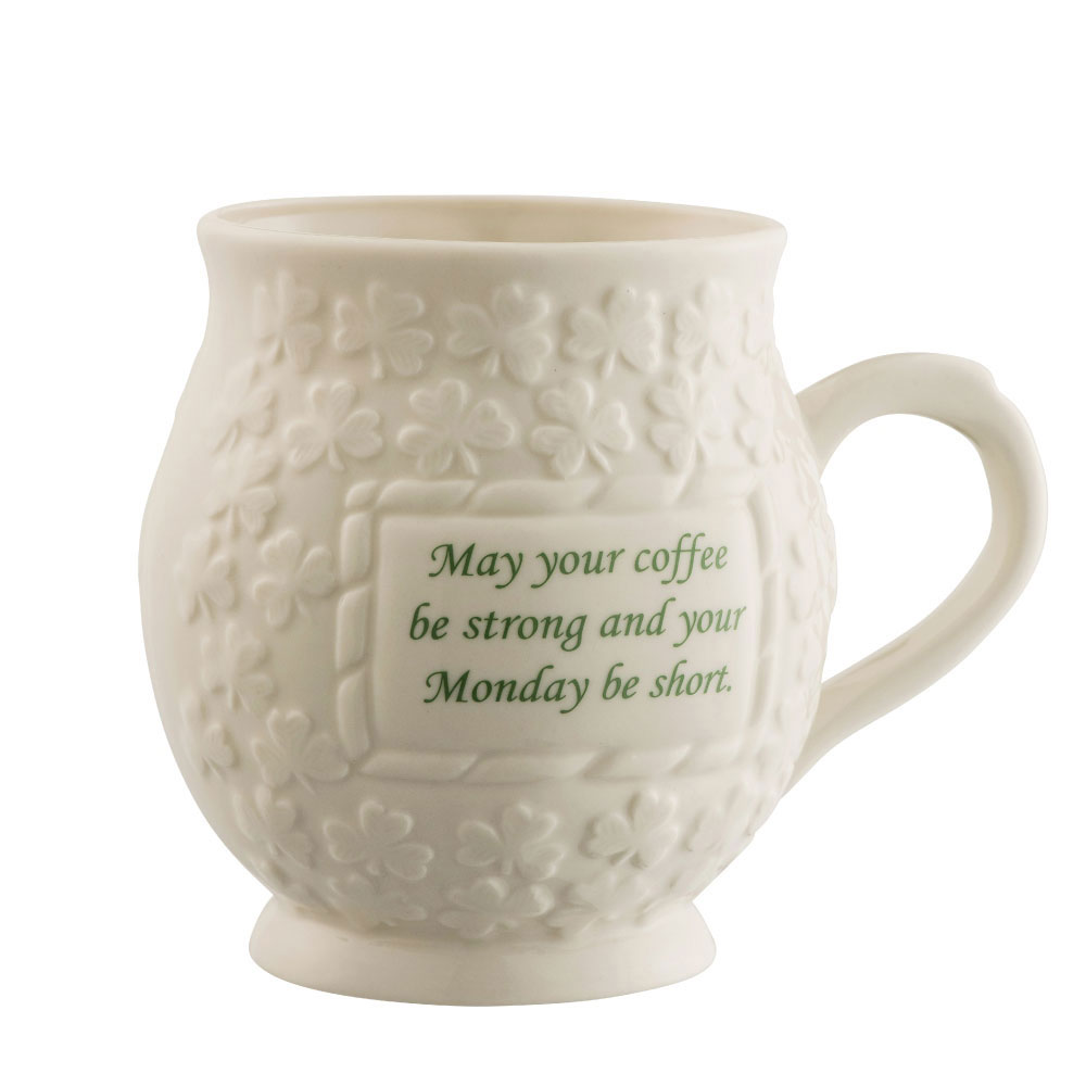 Belleek May your Coffee be Strong Mug