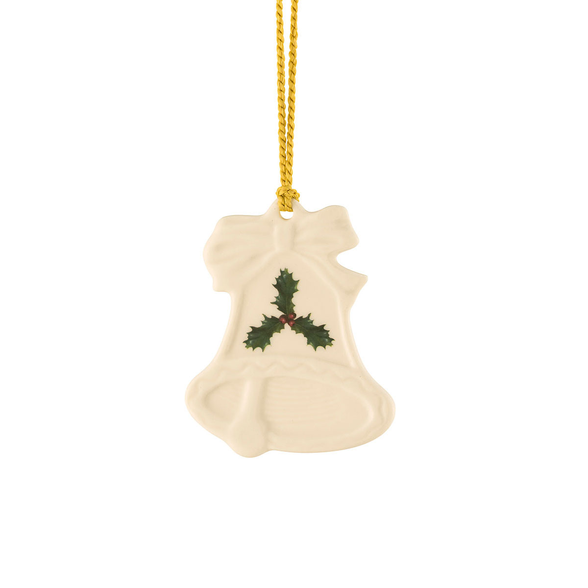 Belleek Holly Bell Ornament
