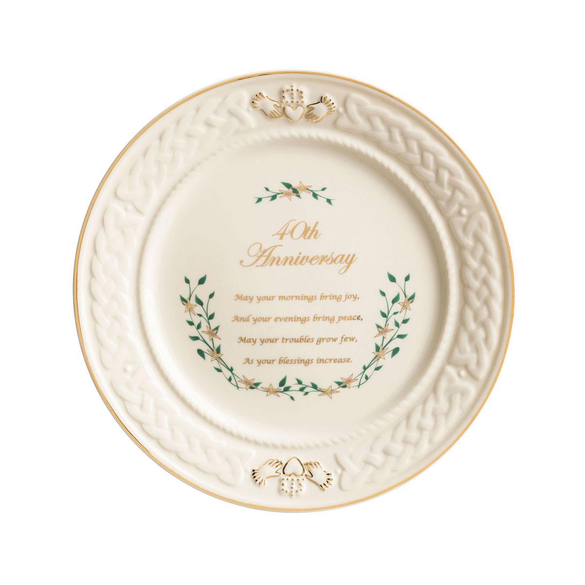 Belleek Celebration 40th Anniversary Plate