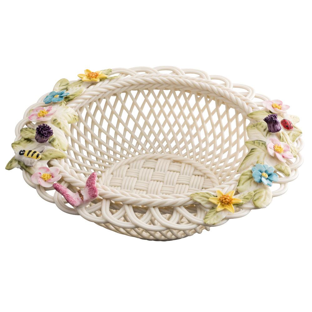 Belleek Catalina Round Basket