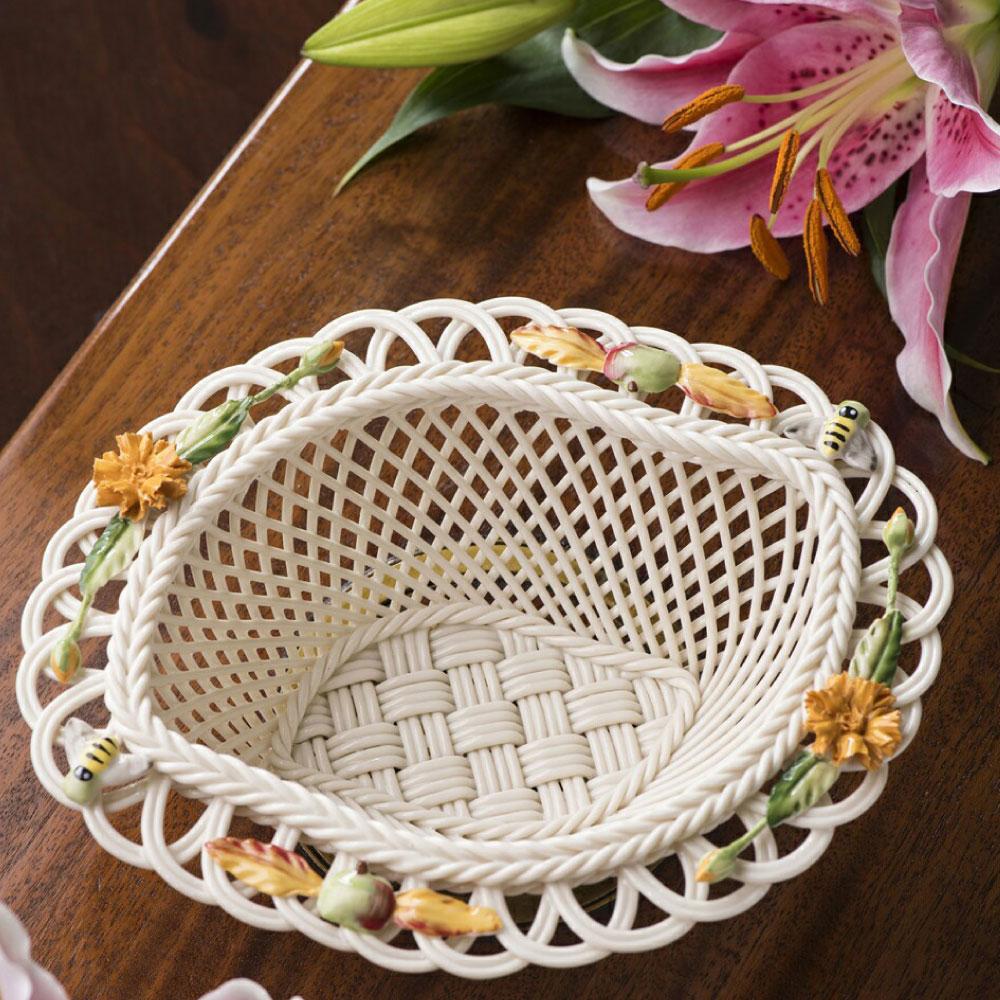 Belleek Living Autumn Flowers Basket