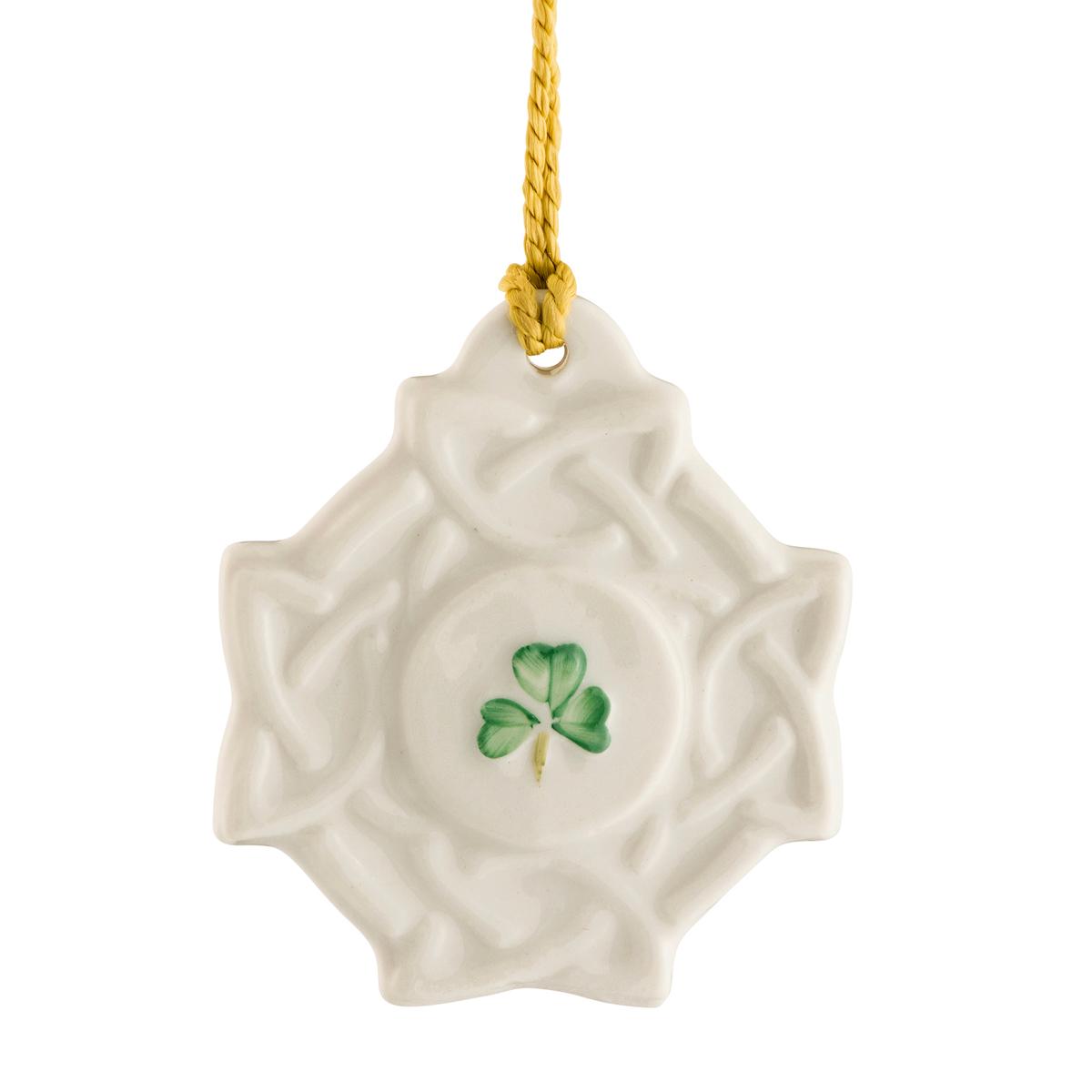 Belleek China Celtic Knot Ornament