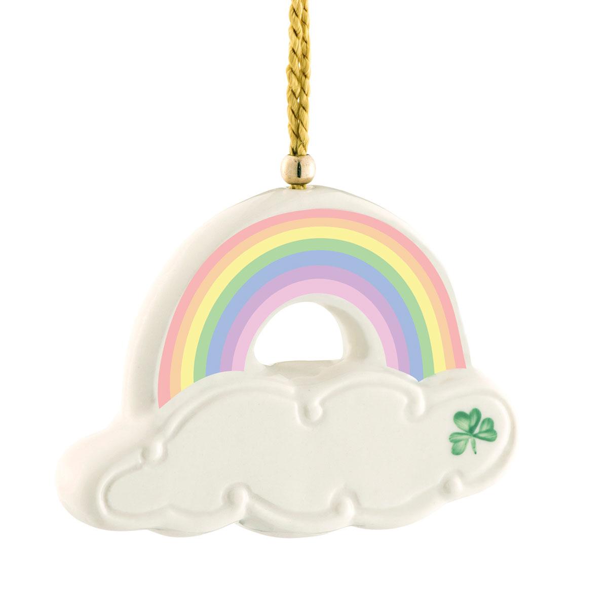 Belleek China Rainbow Ornament