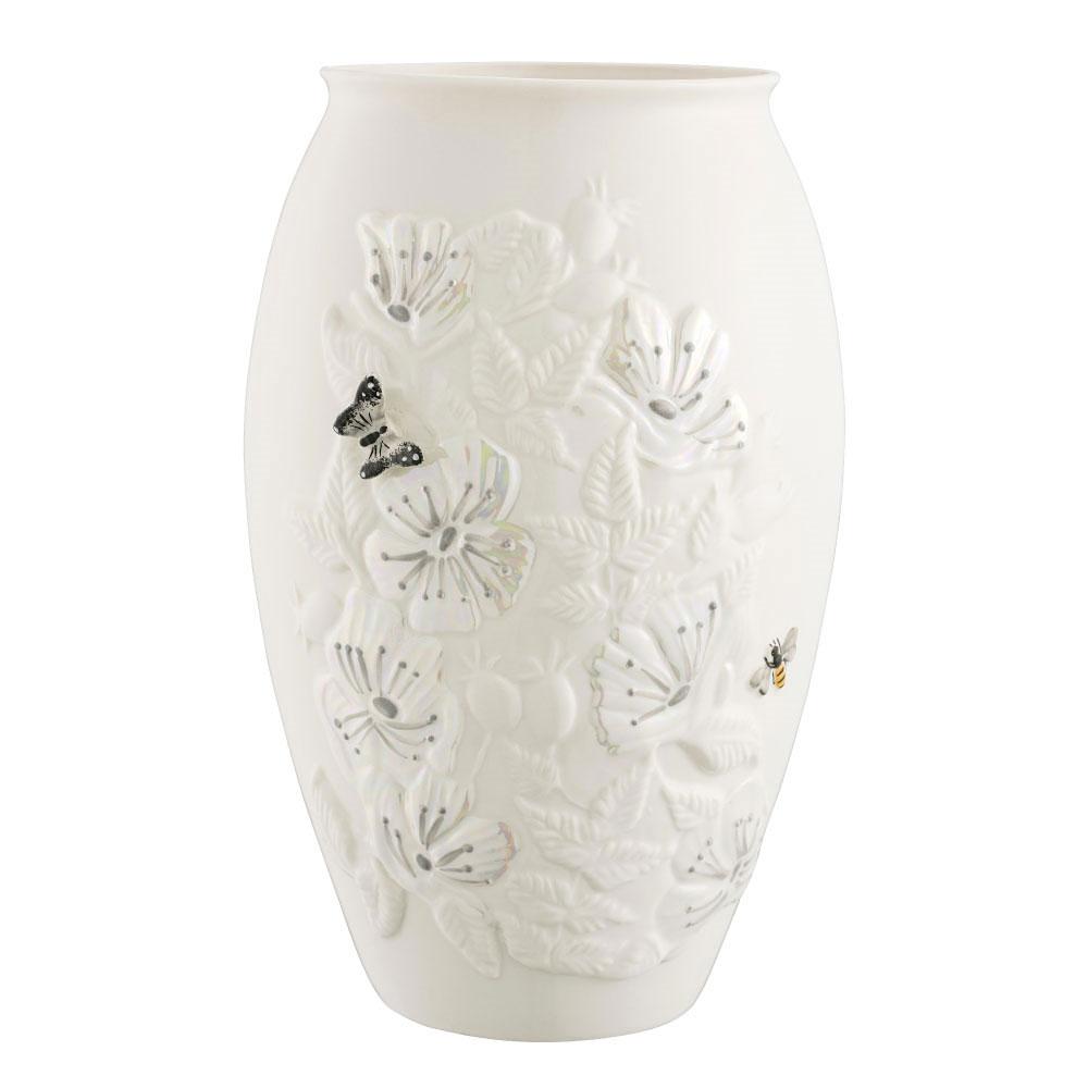 "Belleek Irish Wild Rose 10"" Vase"